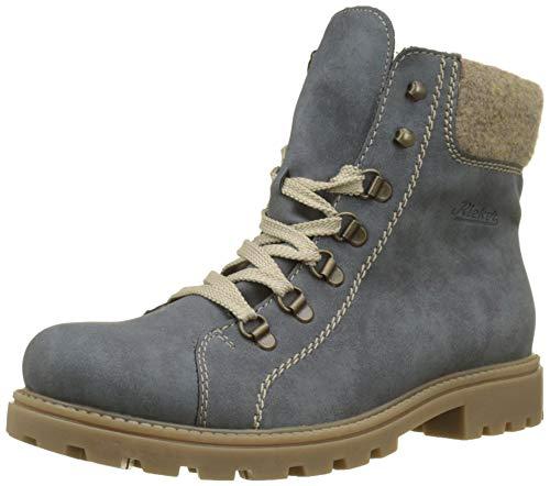 Rieker Damen Z1433 Kurzschaft Stiefel, Blau (Jeans/Wood 15), 40 EU