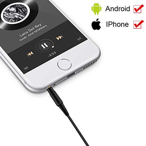 Ersatz Audiokabel Kompatibel mit Bose QuietComfort 35 QC35 QuietComfort 25 QC25 Soundlink SoundTrue Kopfhörer, Aux Audio Kabel mit Mikrofon/Fernbedienung, für iPhone iOS System, Schwarz
