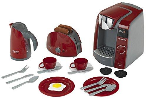 Theo Klein 9541 - Bosch Frühstück set, mit Tassimo Kaffeemaschine