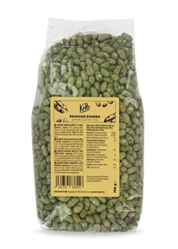 KoRo - Edamame tostati e salati 750 g - Snack croccante proteico di legumi, fagioli di soia tostati senza olio e senza additivi, pochi grassi, ricco di proteine