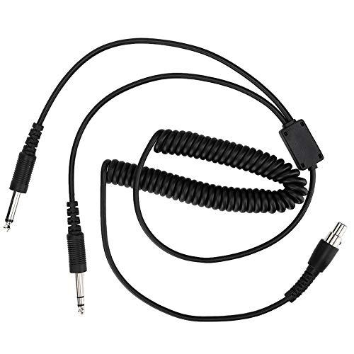 6-pins GA dubbele oordopjes 230 cm / 90,5 inch Universal Aviation hoofdtelefoonkabel Vliegtuig headset verbindingskabel, plug & play