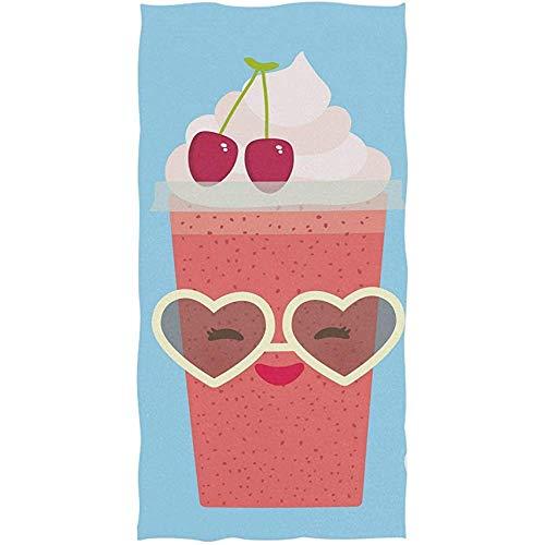 EXking Aardbei Cherry Cranberry sap met zonnebril bad Handdoeken Grote Ultra zachte badhanddoek Multifunctionele Badkamer Handdoek, gezicht, Gym