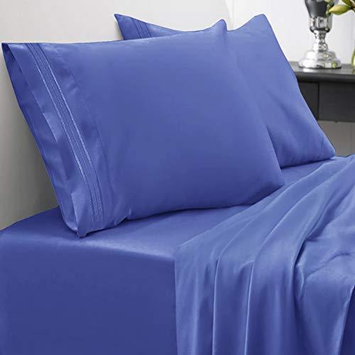 Juego de sábanas de 1800 hilos - Sweet Home Collection - Sábanas hipoalergénicas, suaves de microfibra cepillada - Juego de cama de lujo con sábana encimera, 2 fundas de...