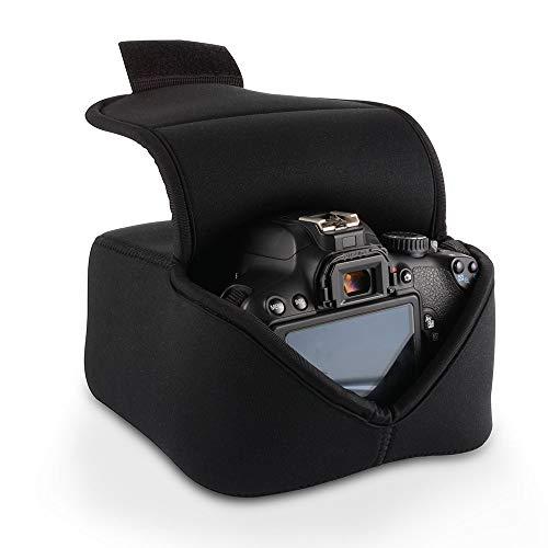 Étui Léger pour Appareil Photo Reflex numérique de Protection, Sac de Rangement pour Appareil Photo numérique en néoprène (Noir) pour Nikon Canon Olympus Panasonic Pentax Samsung Sony et Plus