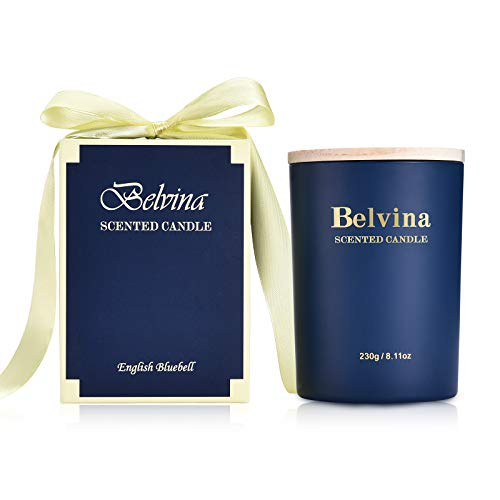 Belvina Scented Candle English Bluebell 230g, Gift Candle
