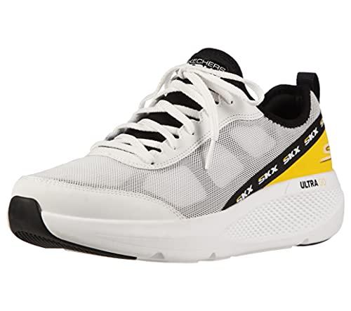 Skechers Men's GOrun Elevate-Lace Up Performance Athletic Running & Walking Shoe Running, White/Black, 9