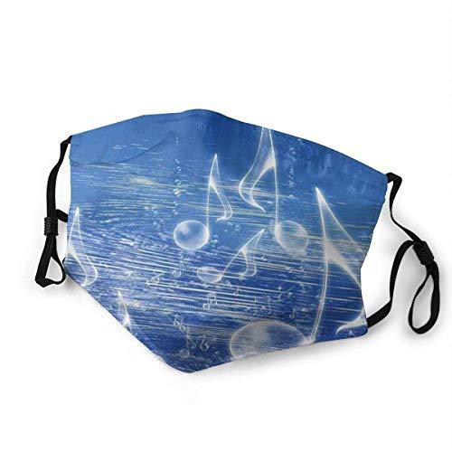 Cubierta de moda cómoda a prueba de viento, agua mágica con burbujas musicales y ondas de baile, música de fantasía más que el tema real, decoraciones faciales impresas para adultos M