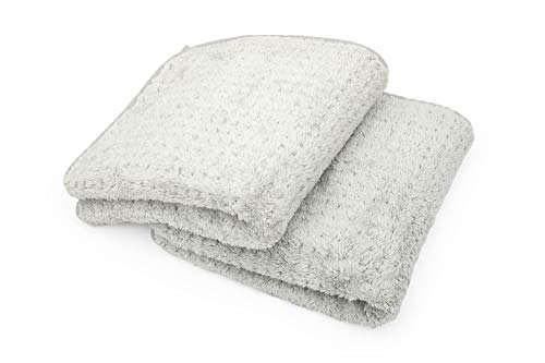 Two grey Microfiber Waffle Weave Drying Towels.
