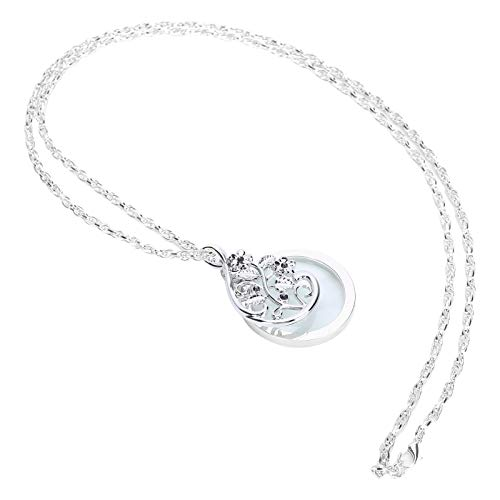 Lupa colgante, collar de 4.5X, lupa, lupa portátil de metal, colgante de cadena para manualidades de lectura, costura, joyería, pasatiempos(Silver)