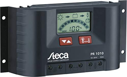 Steca Solarladeregler mit LCD Display und Lastausgang für 12 V Verbraucher bis 10 A, 1 Stück, PR1010