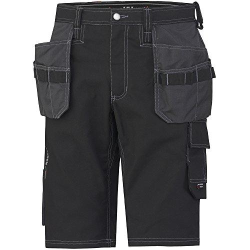 Helly Hansen Workwear Kurze Montagehose Chelsea Construction Shorts, robuste Arbeitsshorts 999 54, schwarz, 76444