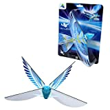 Self Flying eBird Blue Pigeon - Electronic Flying Bird Drone Toy. Adjust the Rudder to Make the Flapping Wings Bird Fly Forward and Back to You. 3 Flying Models! No Remote Control Needed, USB Charging