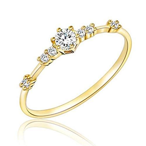 Exquisiter Kleiner frischer Damen Verlobungsring YunYoud Schmuck silberringe mit Stein verlobungsring größe Rose ehering