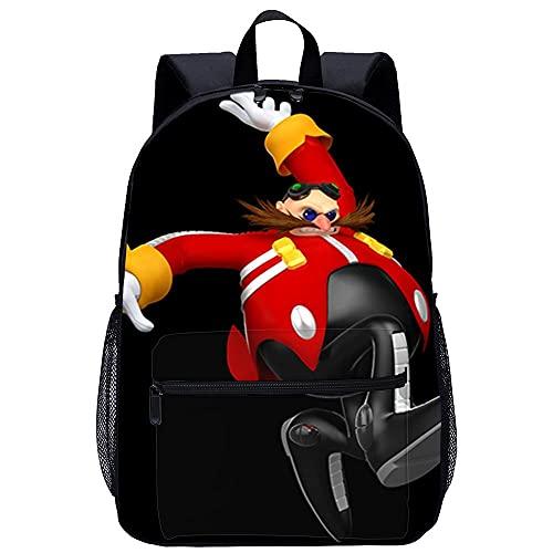 Yinxing 3D-gedruckter Rucksack Lässiger Schulrucksack Mario & Sonic bei den Olympischen Spielen 2012 in London-geeignet für Jungen, Grund- und Mittelschüler-Größe: 45x30x15 cm/17 Zoll-Büchertaschen