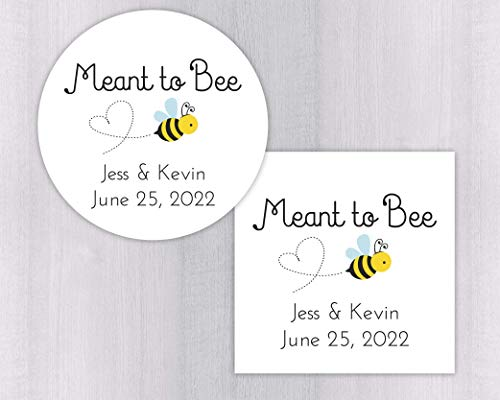 Meant to Bee Wedding Favor Stickers, Honey Jar Stickers, Honey Jar Labels (#277)