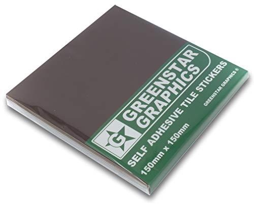 Greenstar Graphics® Fliesenaufkleber, 150 x 150 mm, passend für quadratische Küchen- und Badezimmerfliesen, verschiedene Farben, 50 Stück