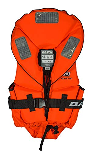 Baltic Pro Sailor 100N Kinder Feststoff Rettungsweste, Farbe:orange, Größe:40-50kg
