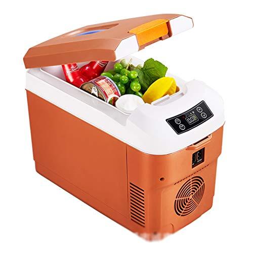 YANN Refrigerador de automóviles, Mini refrigerador Personal portátil, con Correa de Hombro y diseño de Ventanas Transparentes, Opciones de compatibilidad de energía USB AC + DC + USB