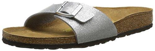 Birkenstock Sandale Madrid Birko-Flor Schmal Magic Galaxy Silver (438083) 41 Silber