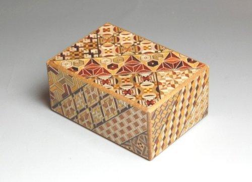 Japanese Yosegi Puzzle Box 4-Sun 14 Moves by Japanese Puzzle