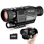 Digital Night Vision Monocular 8X40 HD Infrared with 1.5 inch TFT LCD and Camera & Camcorder Playback Function 32GB TF Card and Bag for Hunting