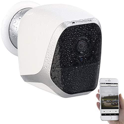 VisorTech IP65 Kamera: IP-HD-Überwachungskamera mit App, IP65, bis 6 Monate Batteriebetrieb (Outdoor Camera)