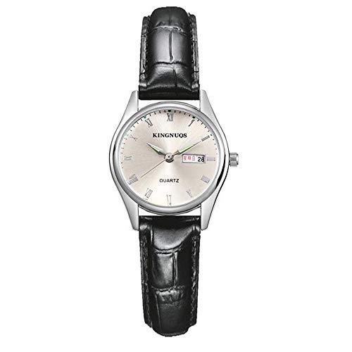 ZSDGY Reloj de Doble rombo con Diamantes Romanos y Correa de Diamantes, Reloj Impermeable clásico para Hombres y Mujeres D-Girls