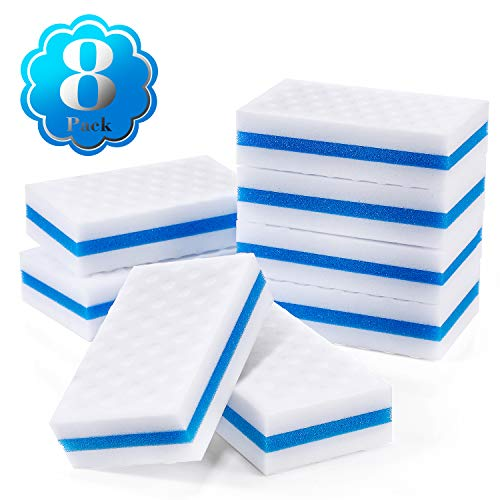 Outus 8 Pack Boat Scuff Erasers Boat Sponge for Cleaning Streak Deck Marks Magic Boating Accessories (Rectangle)