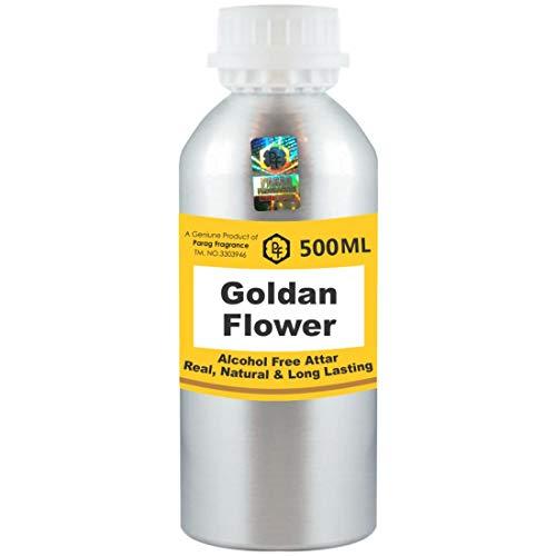 Parag Fragrances Goldan Flower Attar Wholesale Pack Attar 500 ml (sans alcool, longue tenue pour homme – femme & religieux utilisation religieuse) Worlds Best Attar | Itra | Huile de parfum | Scent