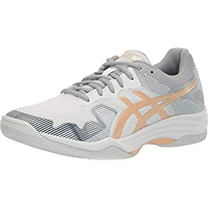 ASICS Women's Gel-Tactic 2 Volleyball Shoes, 8.5, White/Champagne