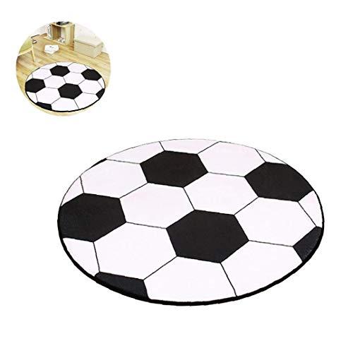 MICHAELA BLAKE 1pcRound Fußball Teppich Runde zur Fußball-Kinderteppich Kinder Kinder Jungen Schlafzimmer Stuhl Teppich Teppiche Badematten Junge (80cm / 31.5inch)