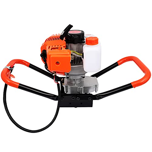 52cc Power Post Hole Digger Ground Drilling Machine Earth Auger 2-Stroke Garden Tools Powered Engine Fence Hole Digger