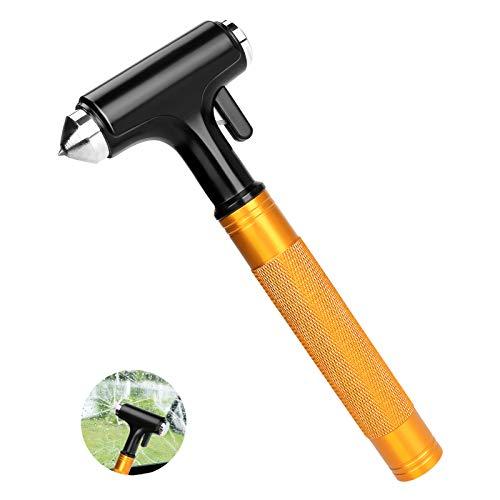 BestCool Auto Hammer, Notfallhammer Gurtschneider Fenster Nothammer Fluchtwerkzeug Metall für Camping, Wandern im Freien, Reisen