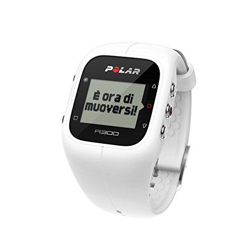 Polar A300 HR, Cardiofrequenzimetro con Sensore di Frequenza Cardiaca Unisex Adulto, Bianco, Taglia Unica