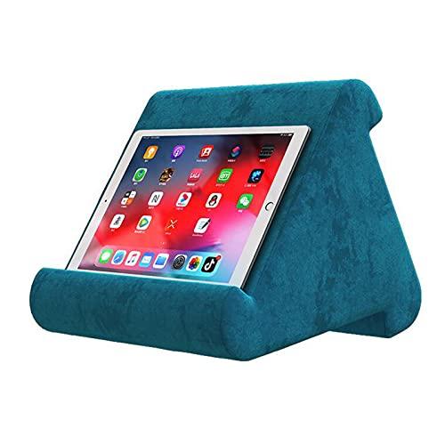 Jcnfa-Estante Soporte De Almohada Suave del iPad, Soporte para Teléfono Tablet Putter Holder, Mats Lazy Multifuncional, 2 Colores(Color:Azul)