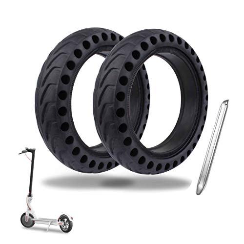 Tinke 2X Neumáticos sólidos Rueda Delantera/Trasera Llanta de Repuesto de la Rueda del Scooter de 8.5 Pulgadas para Xiaomi Mijia M365 / GOTRAX GXL V2 Scooter eléctrico