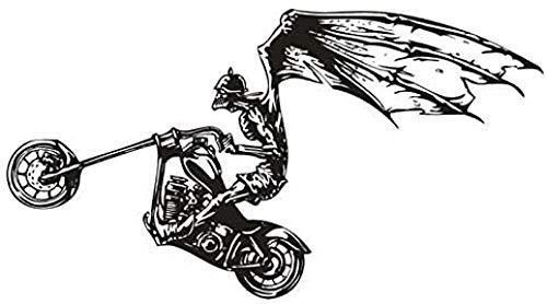 Pegatinas De Pared Pegatinas De Motocicleta Coche Calavera Murciélago Calcomanía Vinilo Pared Calcomanía 68X125Cm