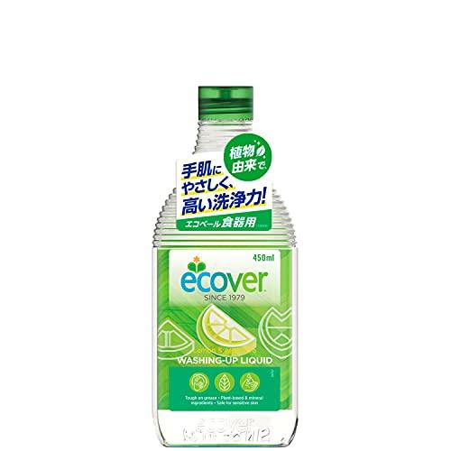 エコベール 食器用洗剤 本体 レモンの香り 450ml