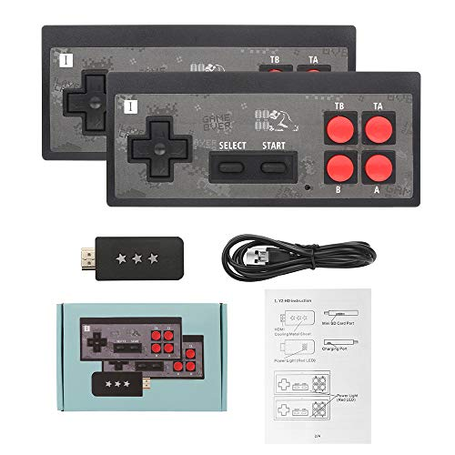 Retro Game Console Handheld Game Console with 600 Clasical FC Games HD TV game console Y2 + HD video game console wireless game console handle for Kids and Adult