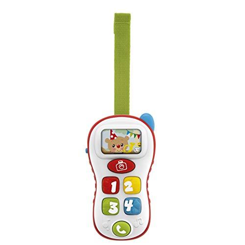 Chicco Juego ABC Selfie Phone, Trillín electrónico para niños con Forma de móvil, Cartel de números, Palabras y Frases en Italiano e inglés, bilingüe, 6 – 36 Meses