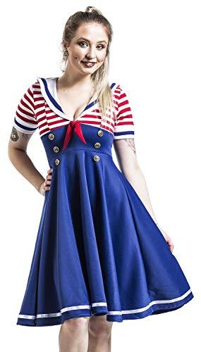 Belsira Swing-Kleid im Marinelook Mittellanges Kleid blau/rot/weiß XXL