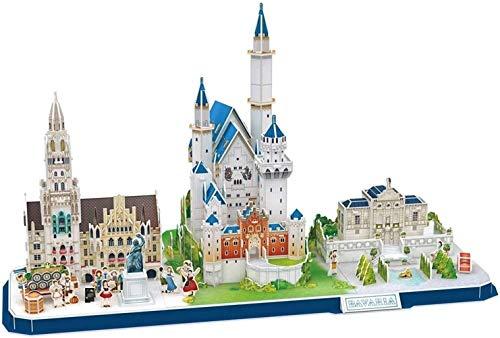 Rompecabezas 3D for adultos y niños Cityline construcción