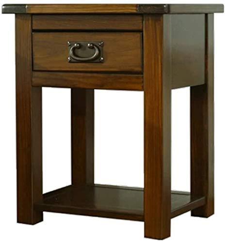 Mesilla de Noche Mueble de mesita de Noche Gabinete del Lado de la cabecera (55x35x45cm) Mesa Auxiliar