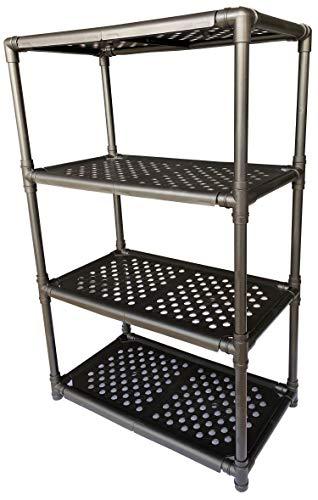 Tool Holder Storage Shelf Shoe Storage Rack DIY Variety Random Assembling (No Support in The Middle, Black)