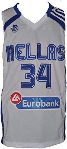 Giannis Greek Freak White Basketball Greece Jersey Stitch All True Size (42)