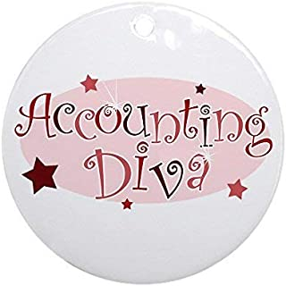 Mars Secret Accounting Diva [Red] Christmas Ornaments Porcelain Ceramic Round 3 Inches Ornament Christmas Tree Decorations