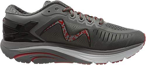 MBT Hombre Zapatos de Cordones GT 2 M, de Caballero Patín de Ruedas,Zapatillas de Deporte,Zapato Sanitario,Deep Grey/Orange,11 US, 10 UK