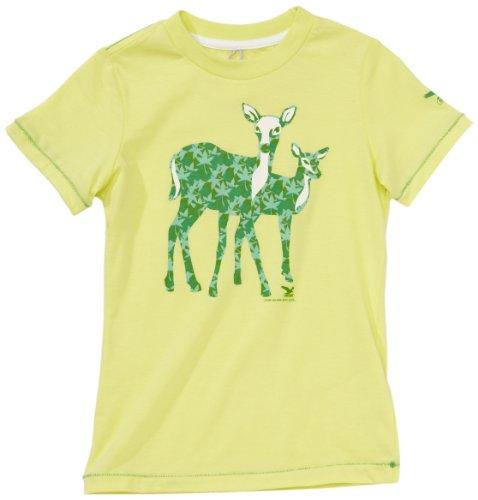 Salewa Mädchen Shirt Woods Shortsleeve Tee, sulphur, 116, 00-0000023627