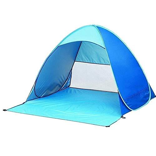 Linwei Automatic Pop Up Instant Portable Outdoors Quick Cabana Beach Tent Sun Shelter,Blue