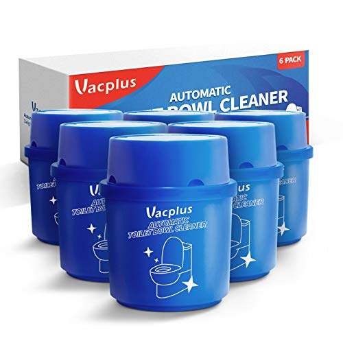 Vacplus Toilet Bowl Cleaner (6-Bottle Pack),Automatic Toilet Bowl Cleaner,Long-Lasting Toilet Bowl Cleaner Tablets in Bottle with Fresh Scent